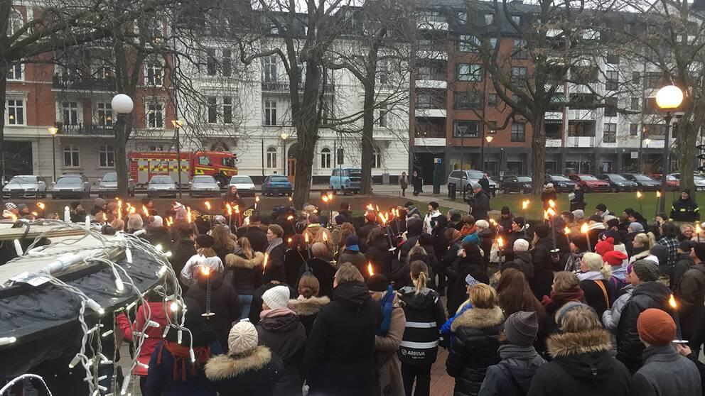#metoo-manifestation i Helsingborg den 14 januari 2018.
