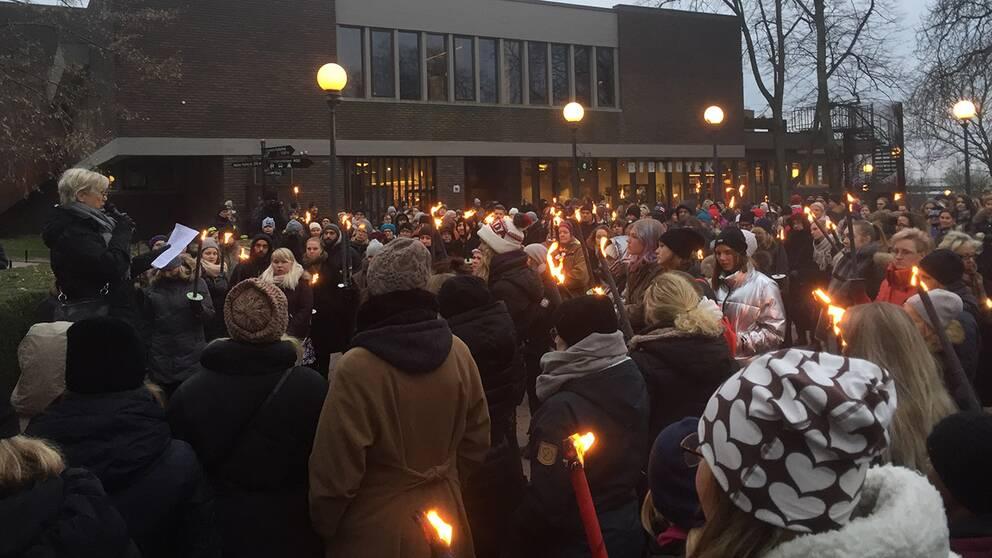 Tal vid #metoo-manifestationen i Helsingborg.
