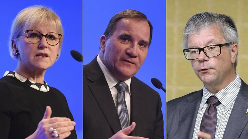 Margot Wallström, Stefan Löfven, Hans Wallmark