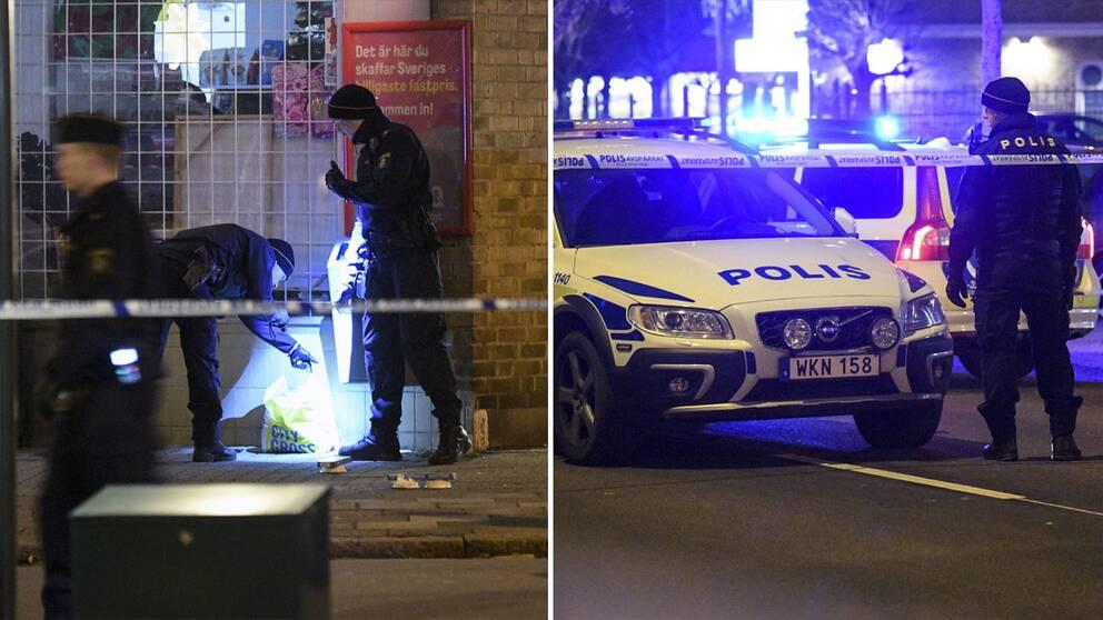 Hör SVT:s utsände rapportera från brottsplatsen i Malmö