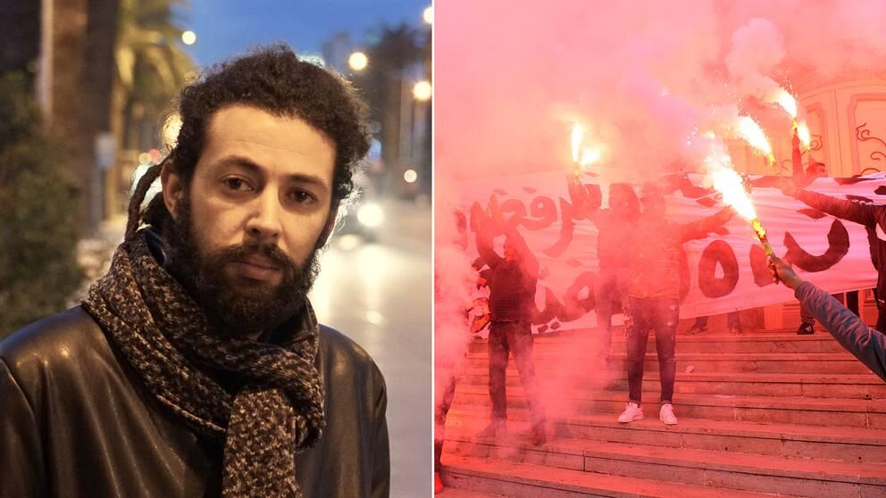 Demonstrant dodad i tunisien