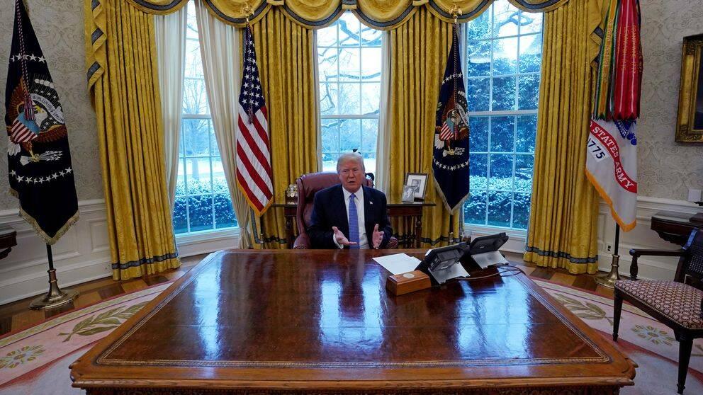 President Trump i Vita huset.