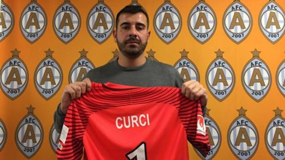 Gianluca Curci blev inte långvarig i AFC Eskilstuna.