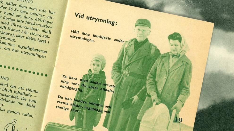 """I den gamla broschyren """"Om kriget kommer"""" från 1961 fick allmänheten om hur de skulle agera vid ett krig."""