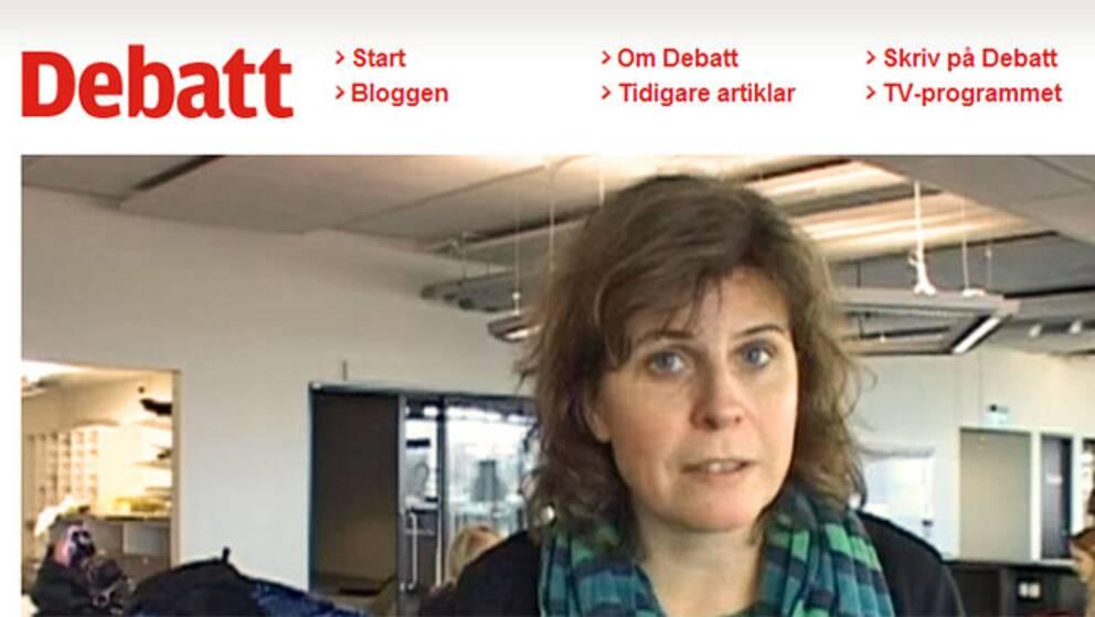 På SVT Debatts sajt kan både kända och okända svenskar skriva egna debattinlägg och kommentera andras.