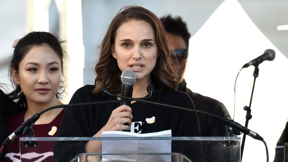 Natalie Portman talade på Women's March i Los Angeles under lördagen.