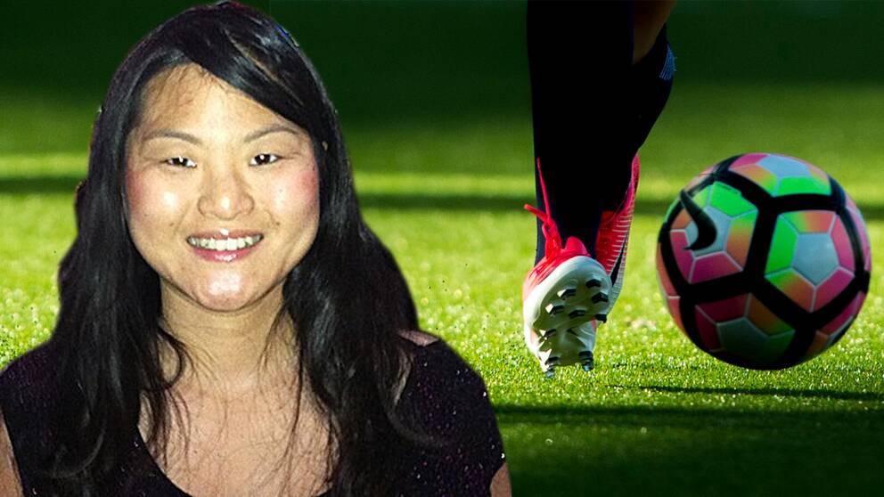 Frida Andersson är sportchef på Växjö DFF och jobbar hårt för att hitta nya samarbetspartners.