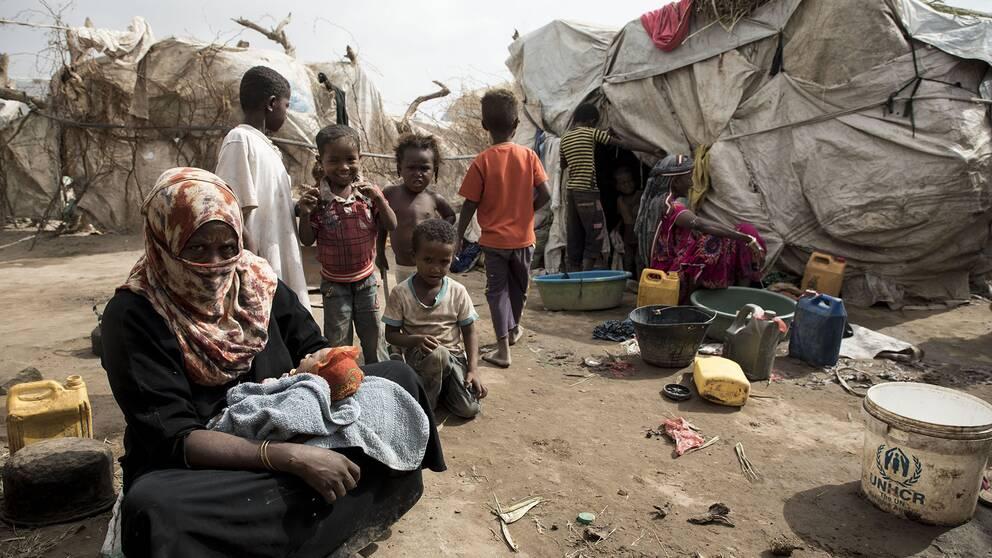 Lägret Maskafa i Lahaj utanför Aden