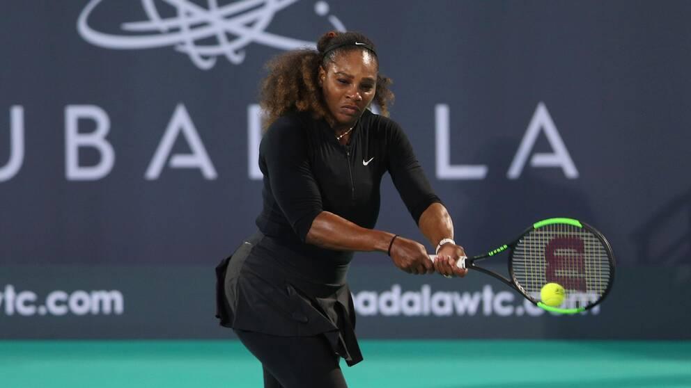 Serena Wiliams i Abu Dhabi i december