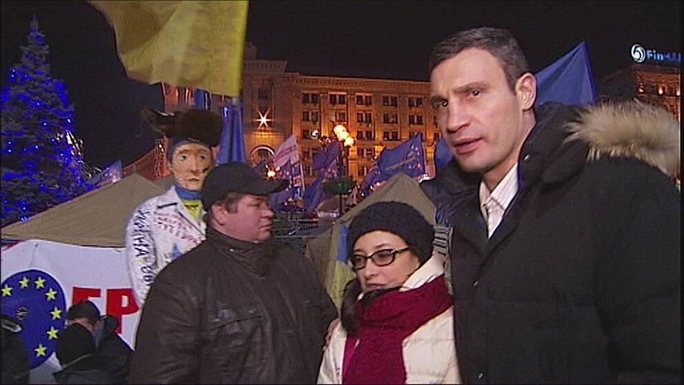 Vitalij Klitjko, ukrainsk fd världsmästare i boxning och populär politiker.