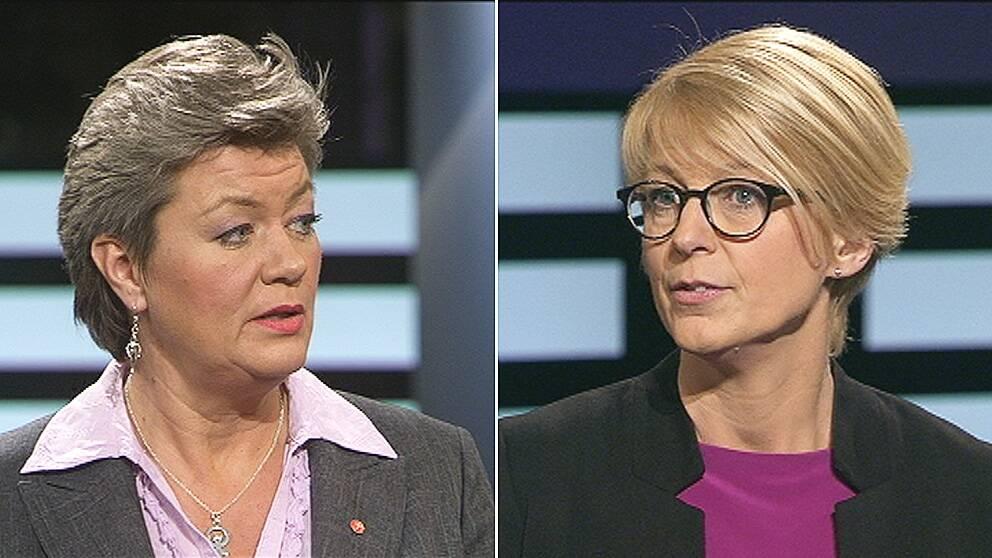 Ylva Johansson (S) och Elisabeth Svantesson (M) debatterade arbetskraftsinvandring i Agenda.