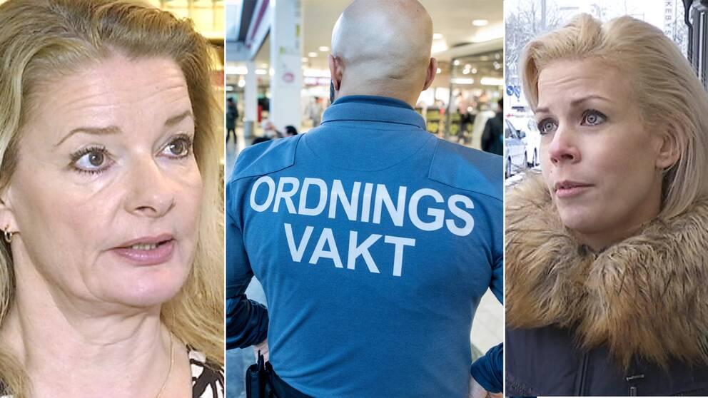 Lotta Edholm, ordningsvakt och Anna König Jerlmyr