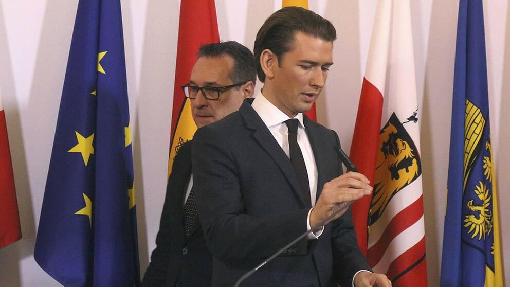 Förbundskansler Kurz och vicekansler Strache tar avstånd från antisemitism efter avslöjanden om kamratföreningar.