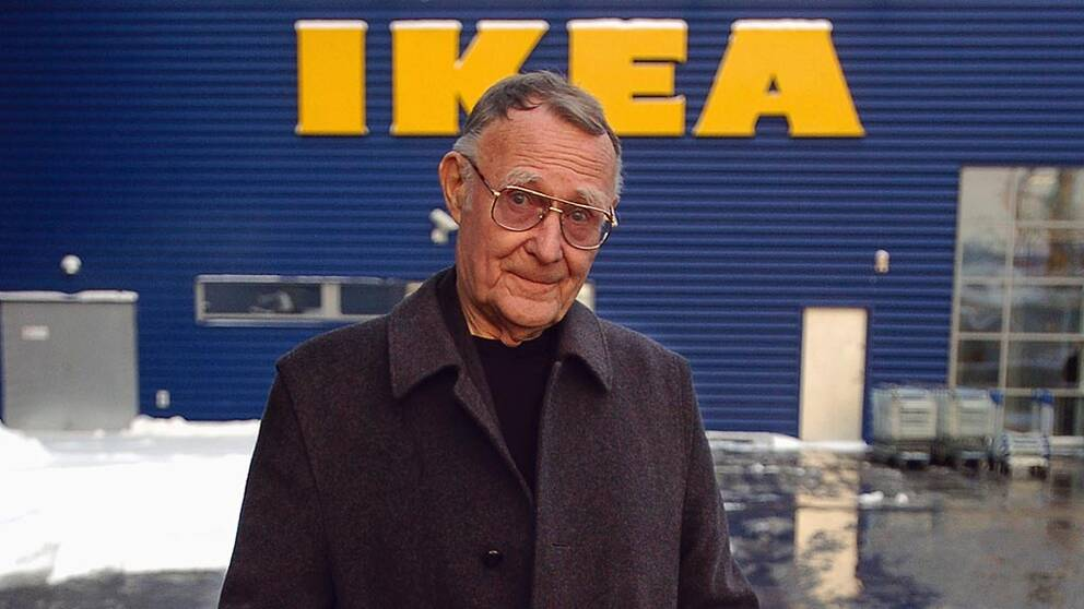 Ikea-grundaren Ingvar Kamprad död