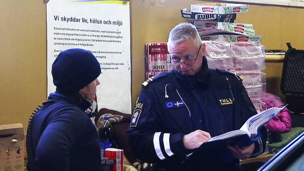Roger Nilsson är gruppchef vid Tullen i Hån