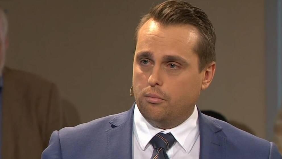 Staffanstorps kommunalråd Christian Sonesson (M) i SVT-programmet Opinion live.