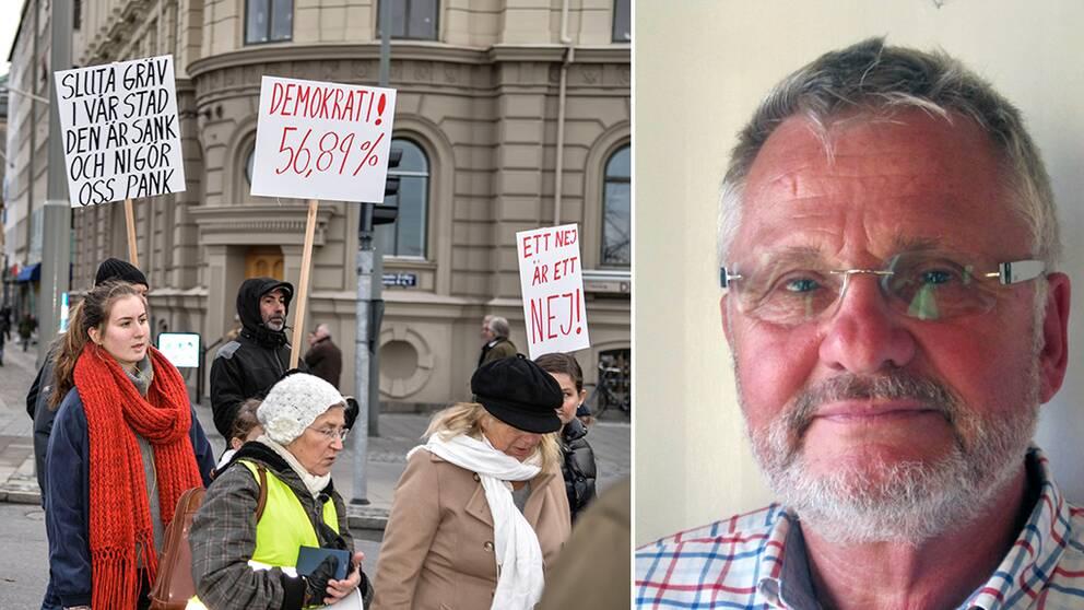 Claes Westberg, partiledare för Vägvalet som är motståndare till Västlänken.