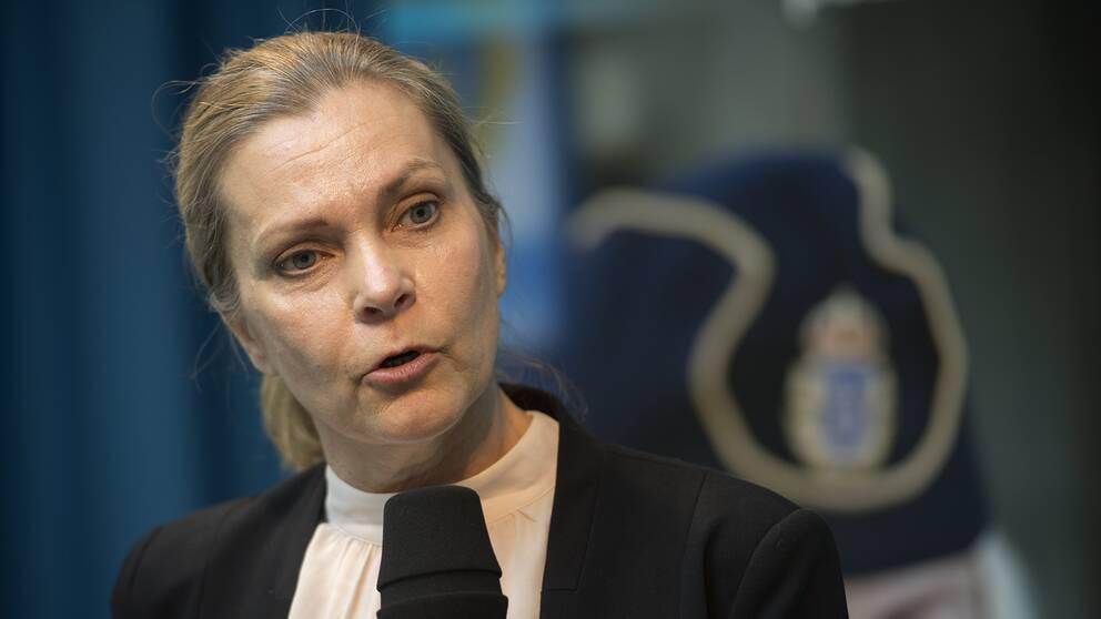 Polisförbundets ordförande Lena Nitz.