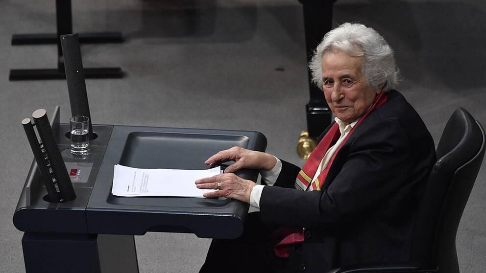 Anita Lasker-Wallfisch var hedersgäst vid den tyska förbundsdagens minneshögtid över förintelsens offer.