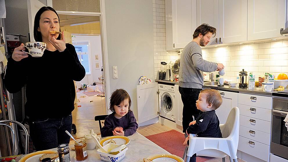 Frukostjäkt i barnfamilj