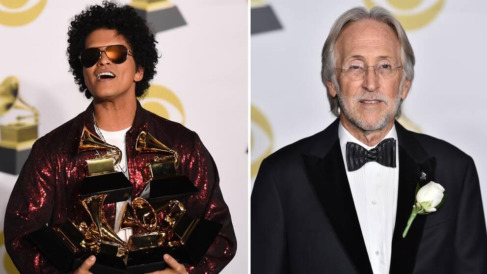 Artisten Bruno Mars tog hem flest statyetter under Grammy-galan.