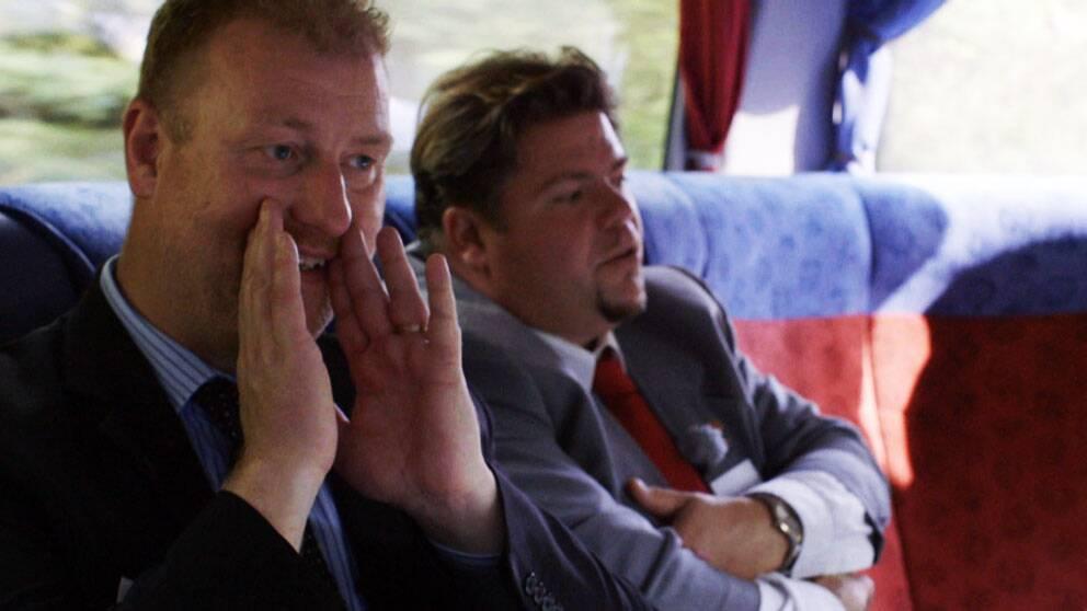 """""""Kommunpamparna"""" Anders Holmensköld (M) och Miguel Odhner (S)."""