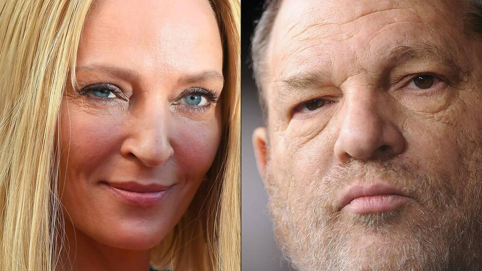 Skådespelaren Uma Thurman anklagar filmmogulen Harvey Weinstein för övergrepp.