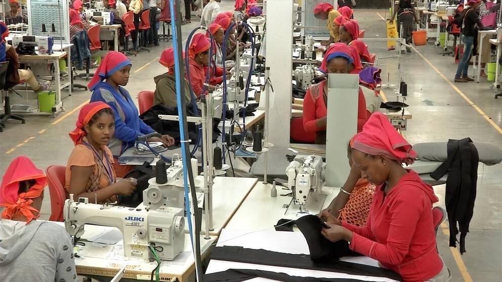 Textilarbetare i Hawassa i Etiopien.