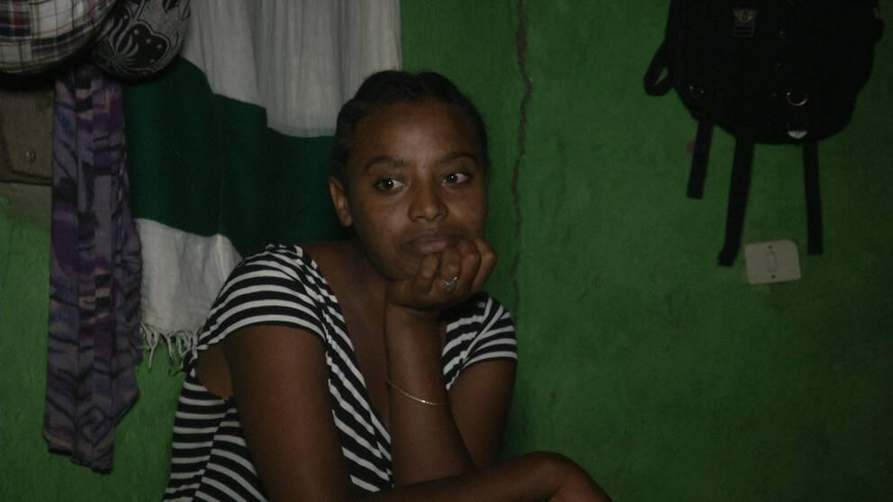 22-åriga Yebahirsew Tibebu arbetar som textilarbetare i staden Hawassa.