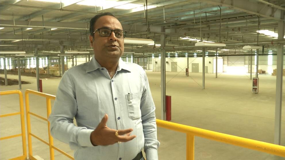 Raghav Pattar, vd för det kinesiska textilföretaget Indochine Ethiopia med verksamhet i Etiopien.