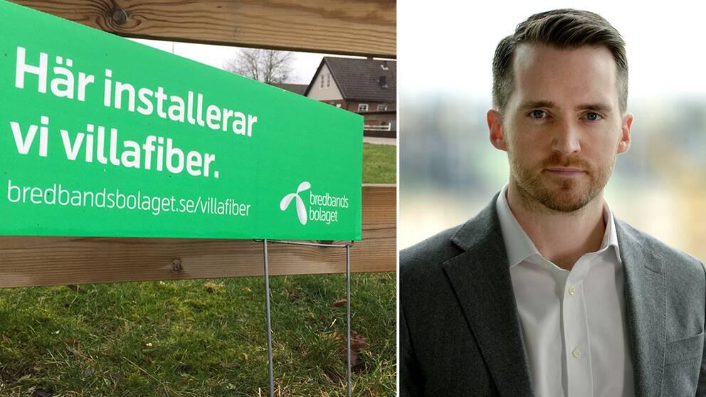 Aron Samuelsson, presschef på Telenor Sverige som äger Bredbandsbolaget säger att lösningen i Väckelsång är tillfällig.