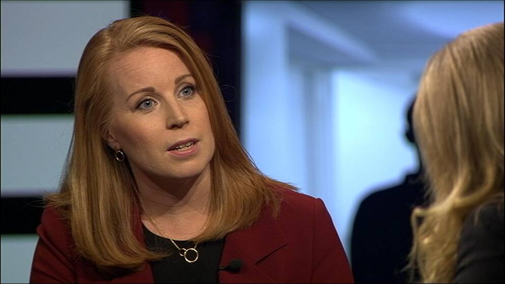 Annie Lööf (C) i Agenda 4 februari 2018.