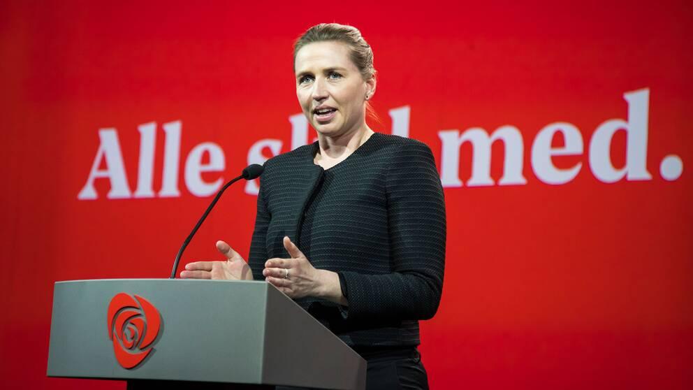 Socialdemokraternas partiledare Mette Frederiksen