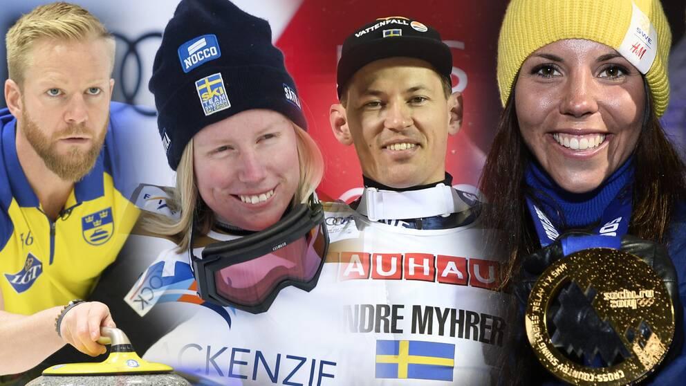 Tre svenska pallplatser i for os