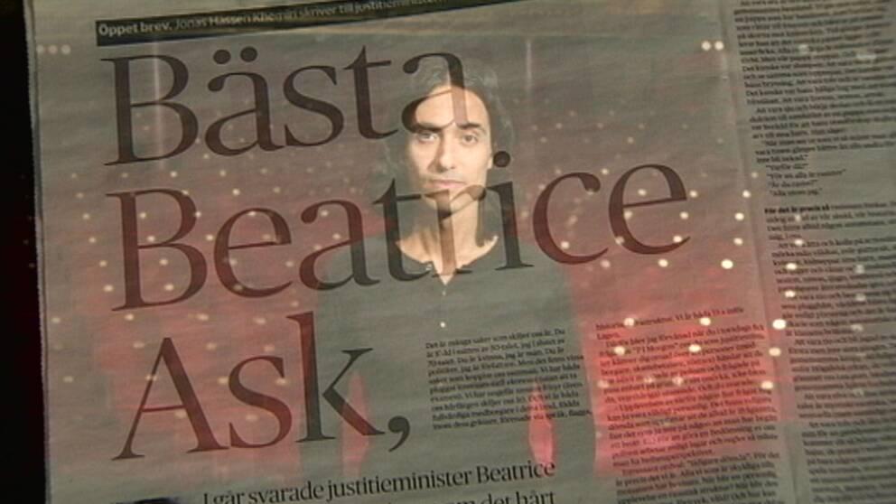 """Jonas Hassen Khemiri debattartikel """"Bästa Beatrice"""" i DN 2013 satte en standard för en ny, mer personlig, kulturdebatt."""