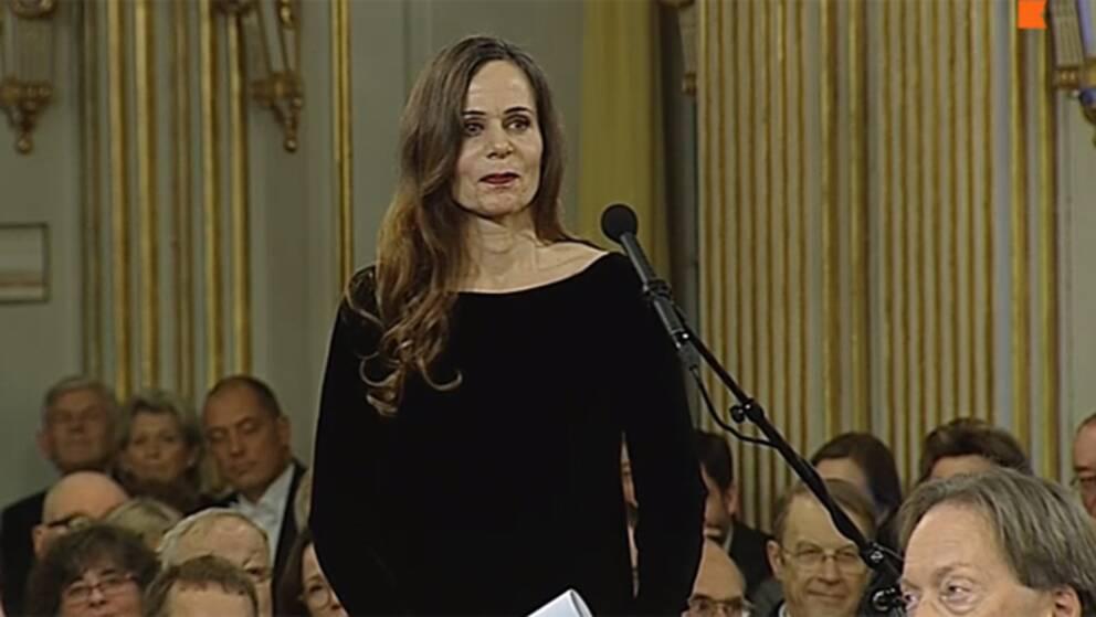 Sara Danius tog plats i Svenska Akademien.