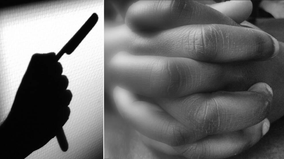 En rakkniv och händer