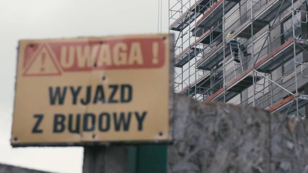 På många byggarbetsplatser i Polen arbetar ukrainska gästarbetare.