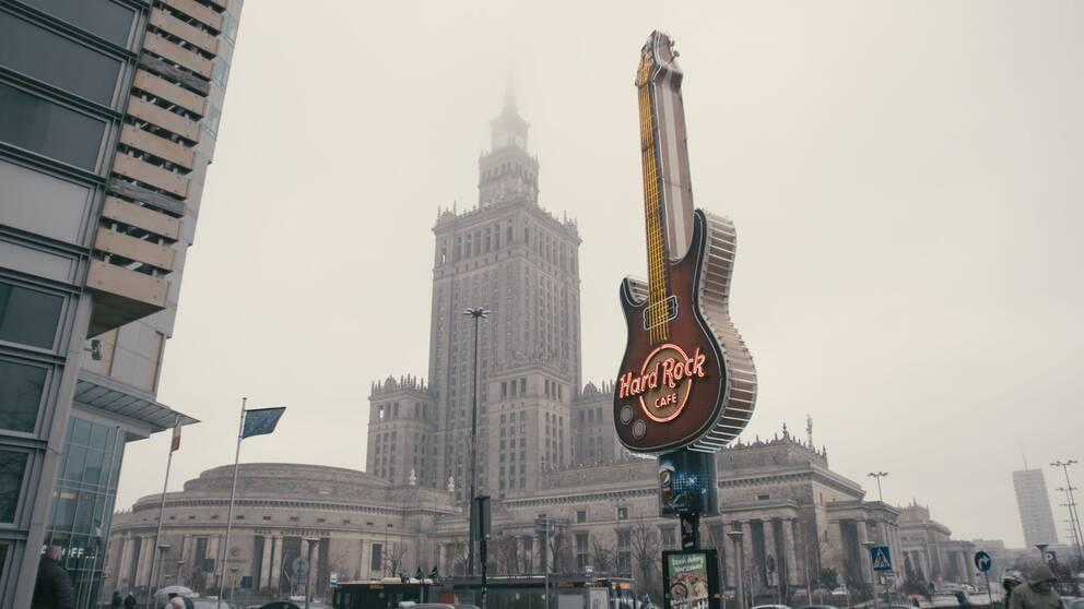 Kulturpalatset i den polska huvudstaden Warszawa.