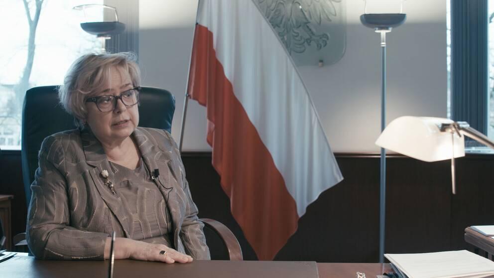 Malgorzata Gerstorf är ordförande i Polens Högsta domstol och tvingas med det nya rättssystemet att gå i pension i förtid.