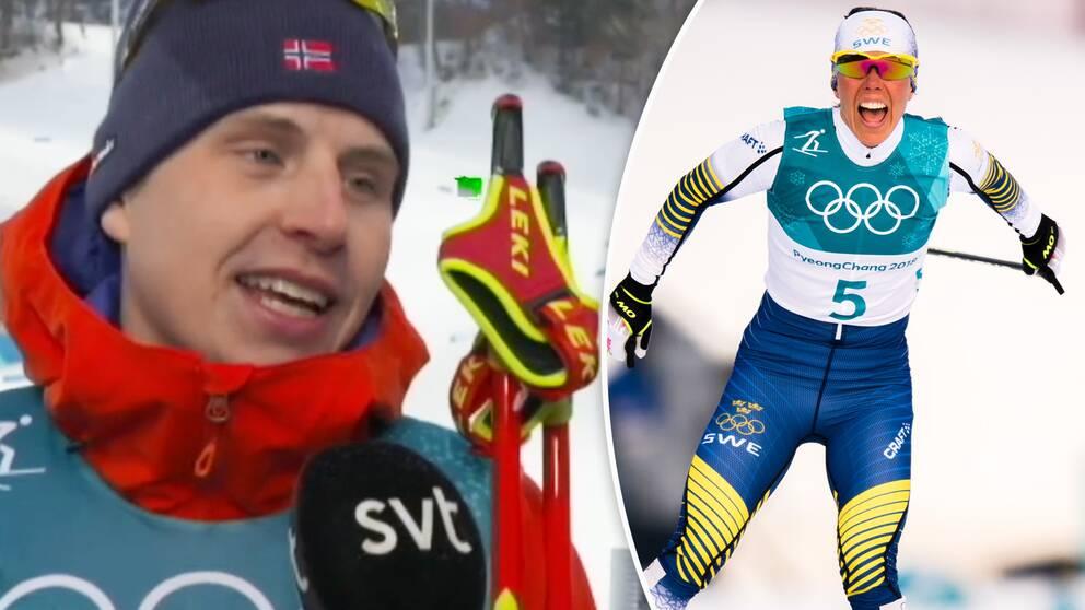 Rysk dominans i herrarnas skiathlon