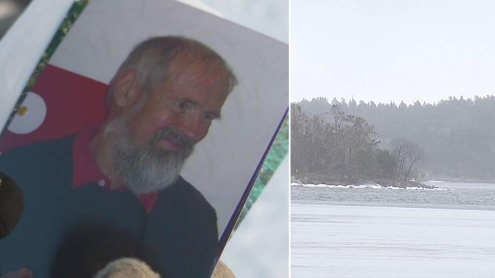 Lennart Avellán-Hultman och vattnet vid Söderby brygga vid Muskö i Haninge kommun.