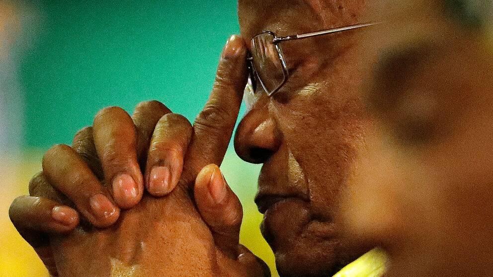 Jacob Zuma under ANC:s partikongress 2017, där han ersattes av sin vicepresident Cyril Ramaphosa som ny partiledare.