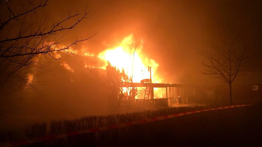 Brand i Falkenberg