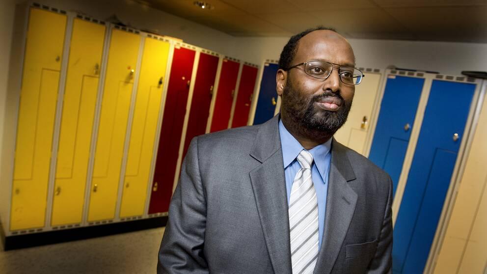 Abdirizak Waberi, rektor för Rösmosseskolan i Angered, som vill starta en muslimsk friskola i Borås.