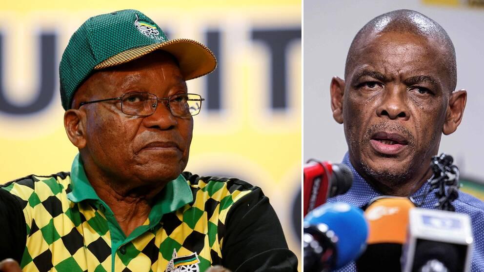 Sydafrikas president Jacob Zuma och ANC:s generalsekreterare Ace Magashule.