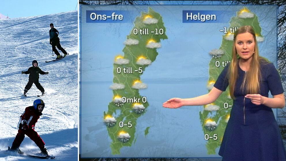 Fjällen är snösäkra lovar SVT:s meteorolog Tora Tomasdottir