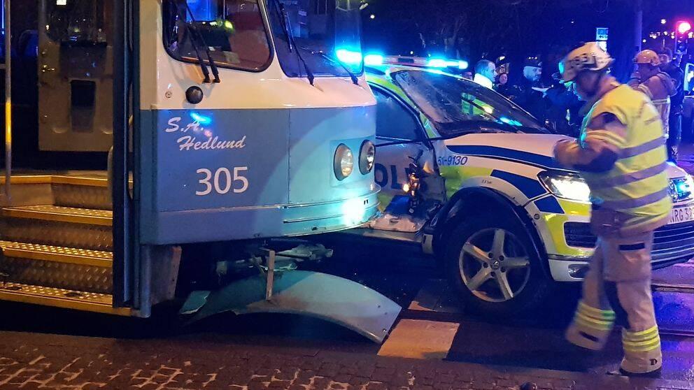 Olyckan inträffade vid niotiden utanför Stora Teatern i Göteborg.