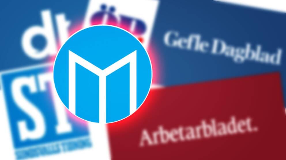 Mittmedia logotyper för olika titlar.
