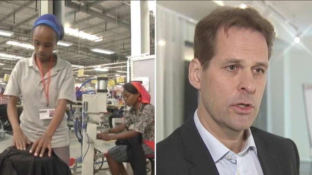 Swedfunds avsikt är att textilarbetarna i Etiopien ska få anständiga löner, enligt vd Gerth Svensson.